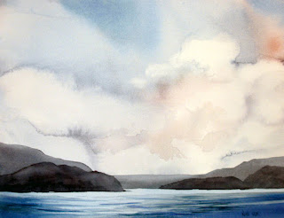Newfoundland Shore original watercolour painting