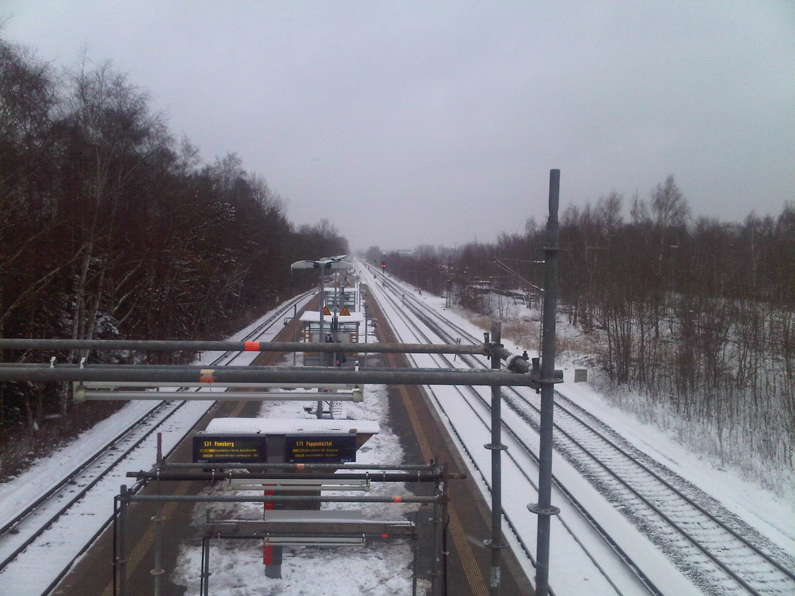 S-Bahn Station Krupunder im Winter
