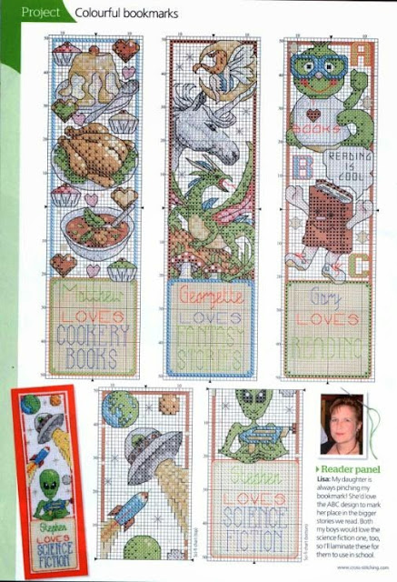 Схема вышивка закладки  / Cross-stitching pattern bookmark
