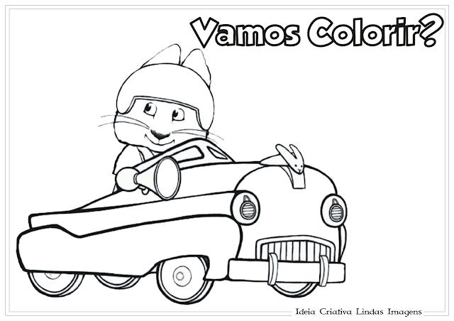 Max e Ruby desenho para colorir