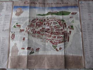 Mapa de la ciudad medieval de Cáceres, Casco Antiguo