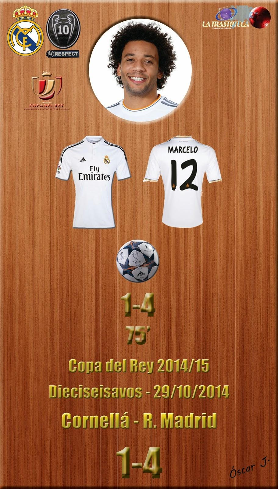 Marcelo (1-4) - Cornellá 1-4 Real Madrid - Copa del Rey 2014/15 - (29/10/2014)