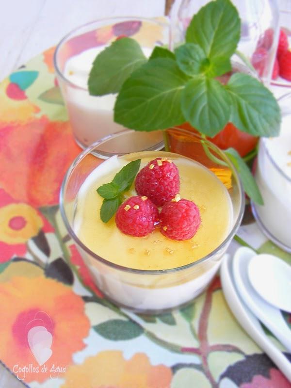 Mousse de yogurt con frambuesas y sirope de agave - Mouse de yogurt ...