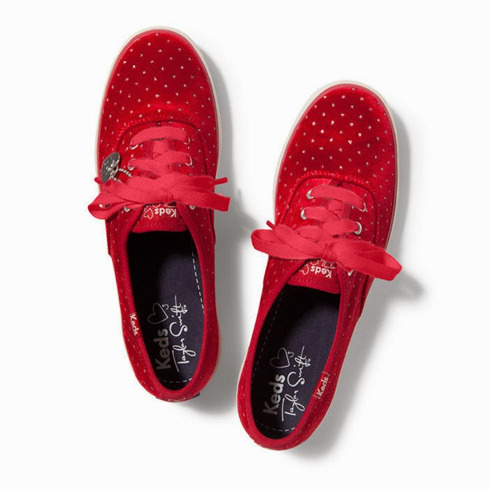 "Keds Womens Sneakes""Taylor Swift Champion Valvet"",Red"