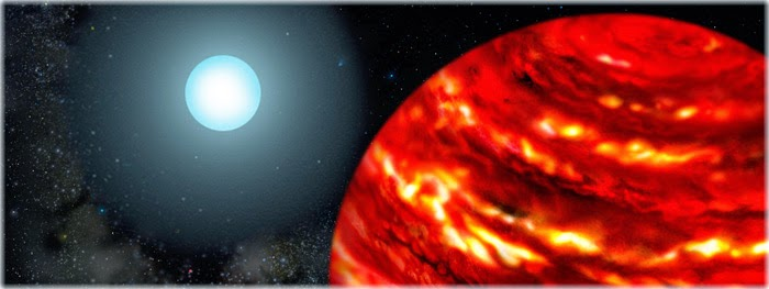 exoplaneta gigante muito próximo de sua estrela-mãe