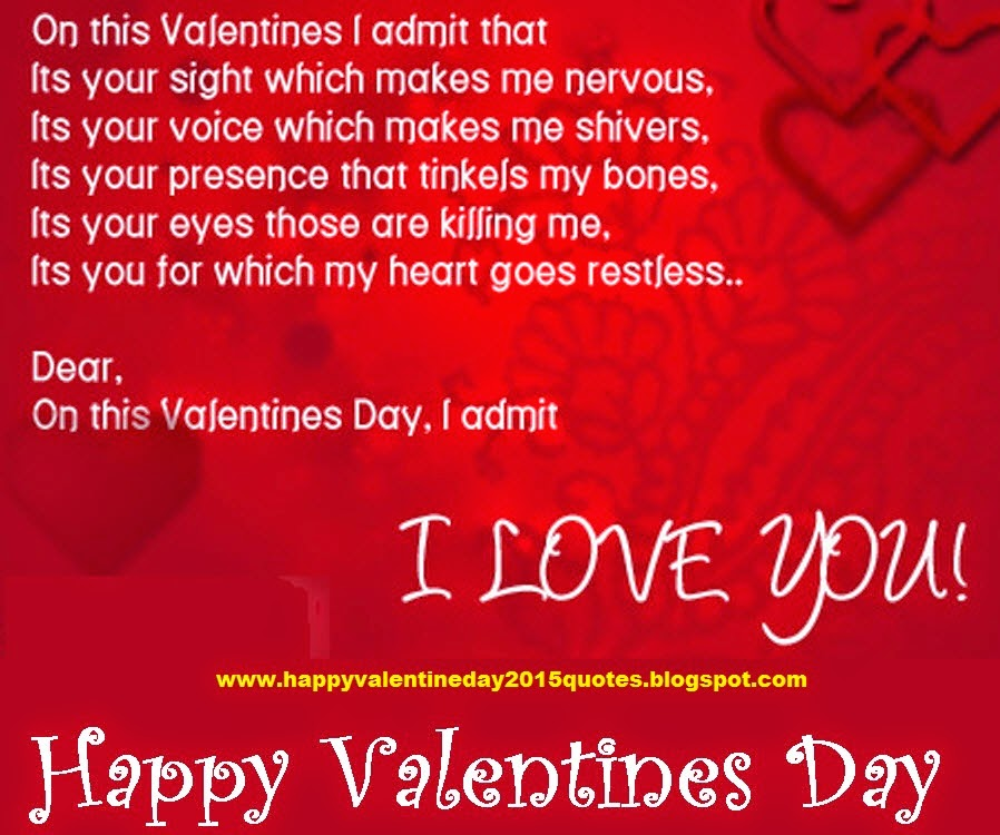 Happy valentines day 2015 quotes greetings cards for Best quotes for valentines cards