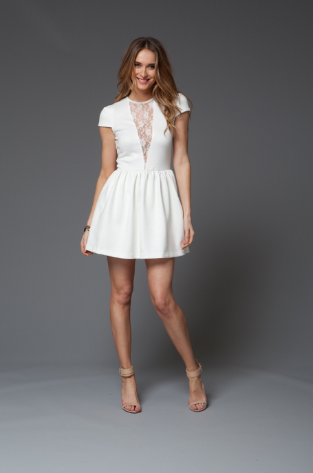 Carrie White Dress White Cap Sleeve Dress