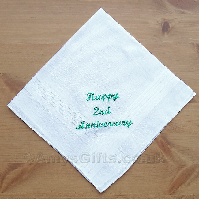 a handkerchief with your love message