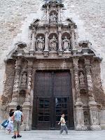 Portada barroca de l'església parroquial de Santa Maria de Moià