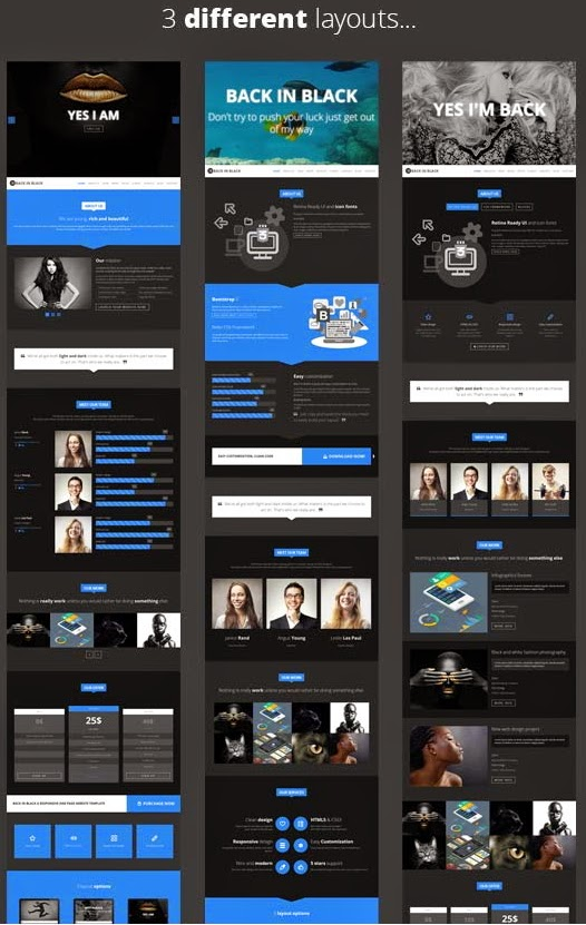 free onepage template