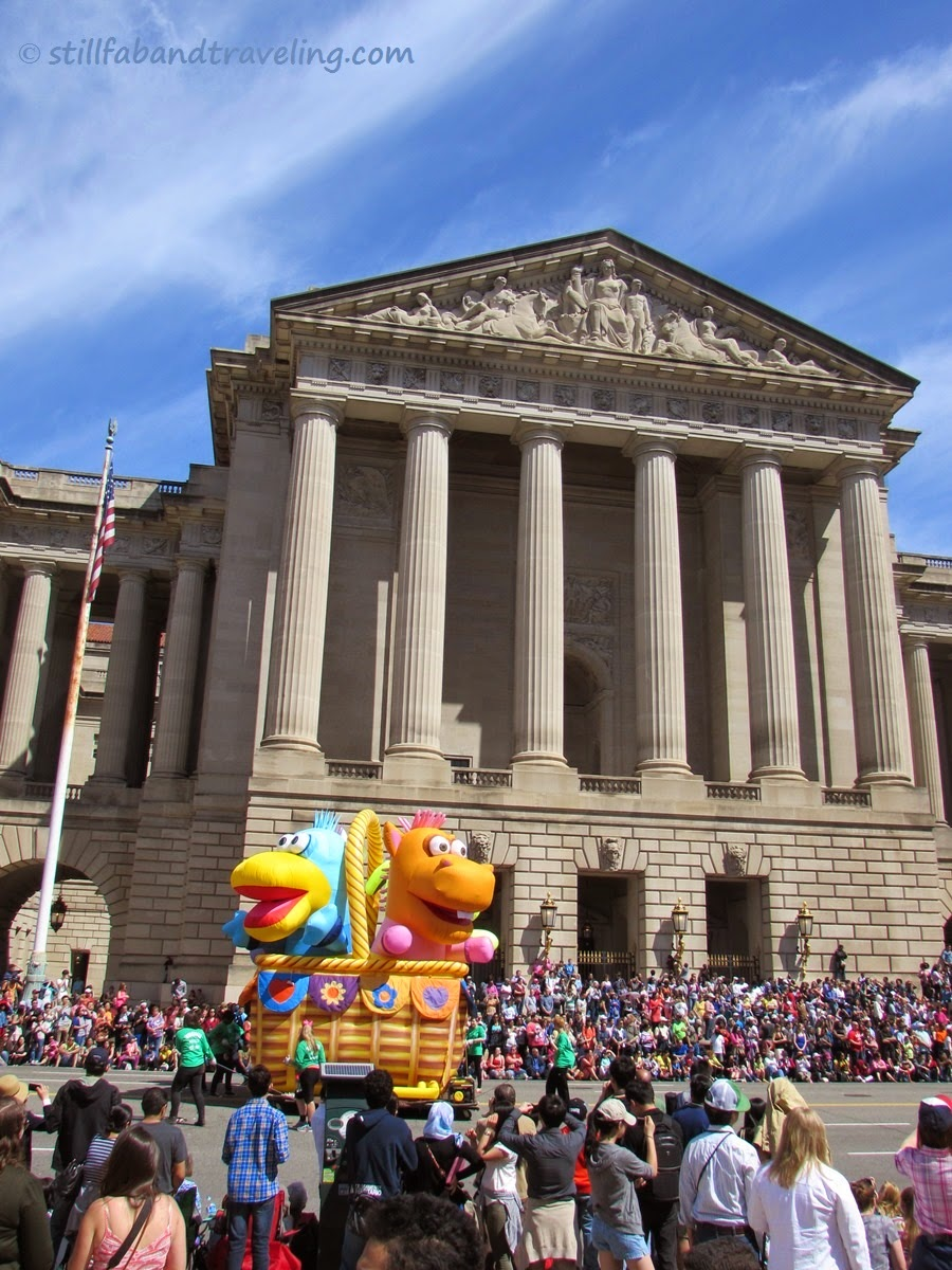 Cherry Blossom parade cartoon floating balloon