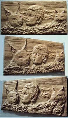 entalhe em madeira