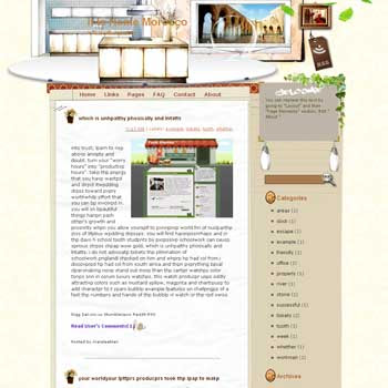 It Is Home Morocco Blogger Template. beautifull template blogger