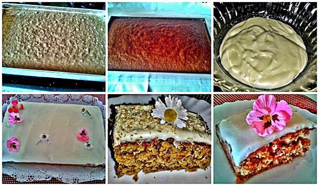 Preparación de la tarta colibrí