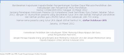 Update Melihat Hasil UKA 2012   Daftar Kelulusan UKA
