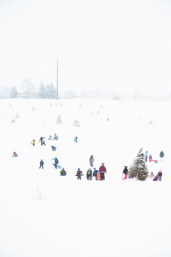 fort collins colorado snowy sledding hill