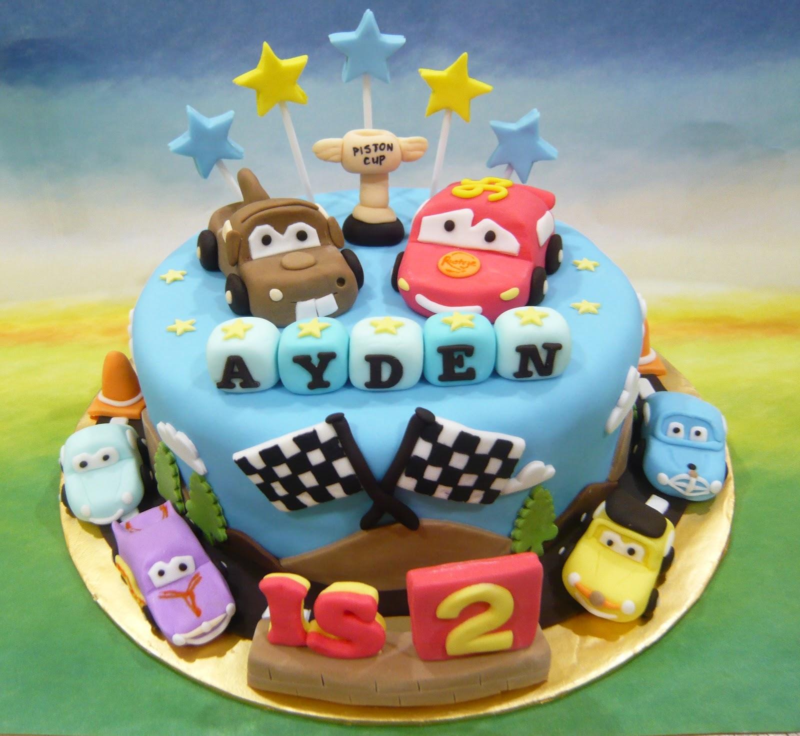 Jenn Cupcakes & Muffins: Cars themed Cake