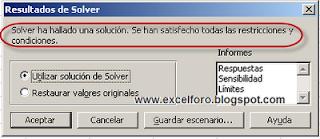 Conciliar una partida con Solver.