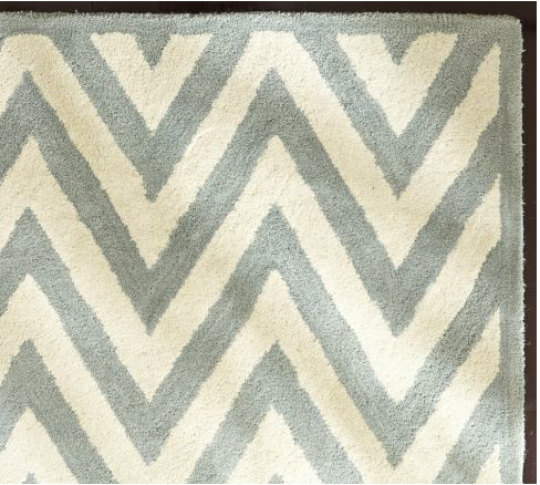 Pottery Barn Also Has A Chevron Rug For Sale, The Hayden Zig Zag In  Porcelain Blue Or Black, Made Of Hand Tufted Wool.