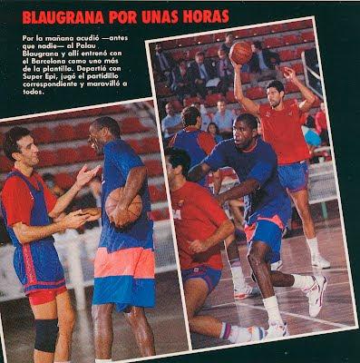 Entrenamiento Magic con el Barcelona