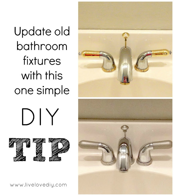 Update old bathroom fixtures with this ONE simple tip! So easy!!