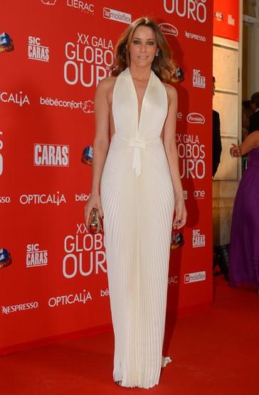 XX Gala Globos de ouro carpete vermelha  Maria João Bastos em Filipe Faísca