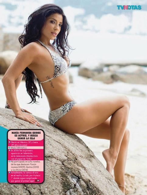 María Fernanda Quiroz Bikini Portafolios de Tvnotas Octubre 2015