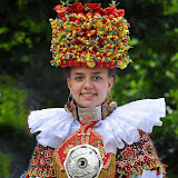 Traditional weddin costume and headdress of Europe