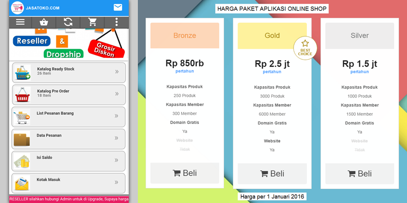 Aplikasi Online Shop Murah