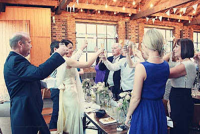 wedding toast at St Chads place