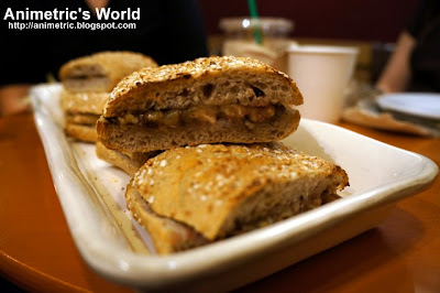 Turkey & Chicken with Apple Stuffing on Whole Wheat Walnut Bread at Starbucks