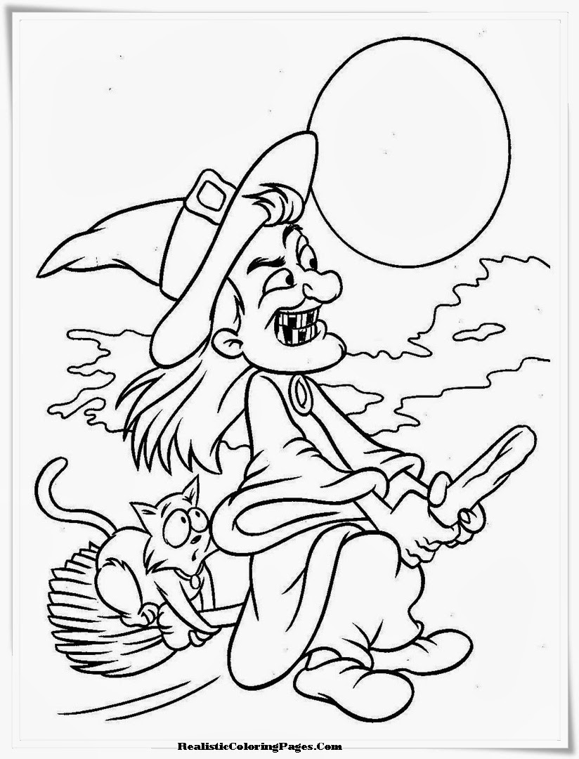 realistic halloween coloring pages - photo#11