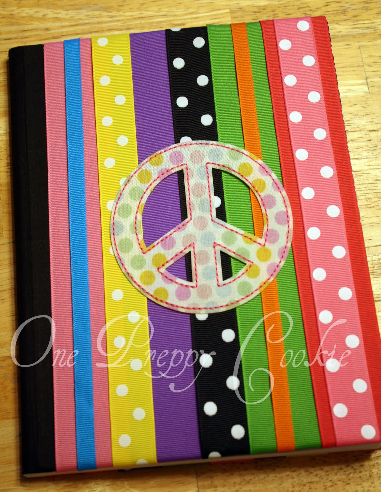 One preppy cookie tutorial back to school do it yourself one preppy cookie tutorial back to school do it yourself grosgrain ribbon notebooks solutioingenieria Image collections