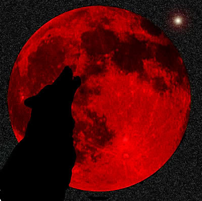 sky the blood moon is actually due to lunar eclipse