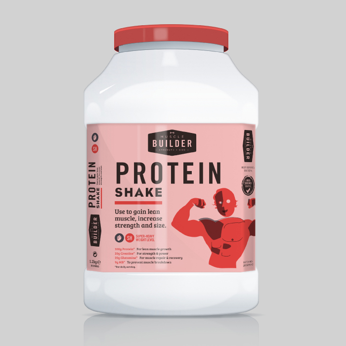 Protein Shaker Lot: Protein Shake Concept On Packaging Of The World