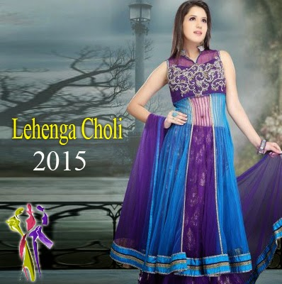 Indian Girls Stylish Utsav Lehenga Choli Collection 2015