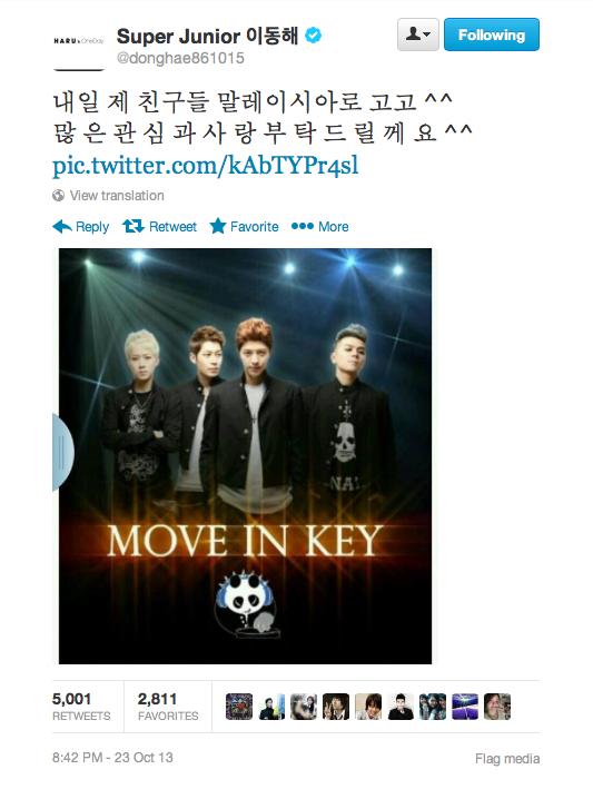 super junior donghae tweet m.i.k