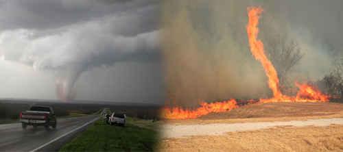 Tornados fuego texas