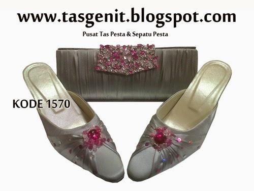 tas pesta, clutch bag cantik, tas kondangan, selop pengantin, sepatu pesta cantik