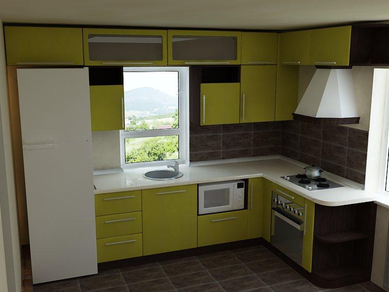 Дизайн кухни фото угловые с окном фото