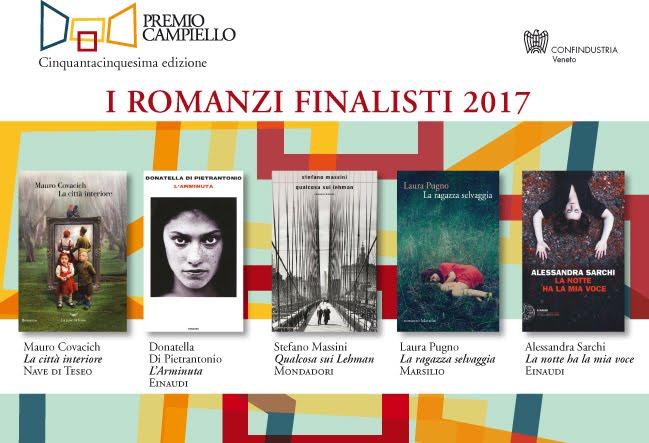 I finalisti del Premio Campiello 2017