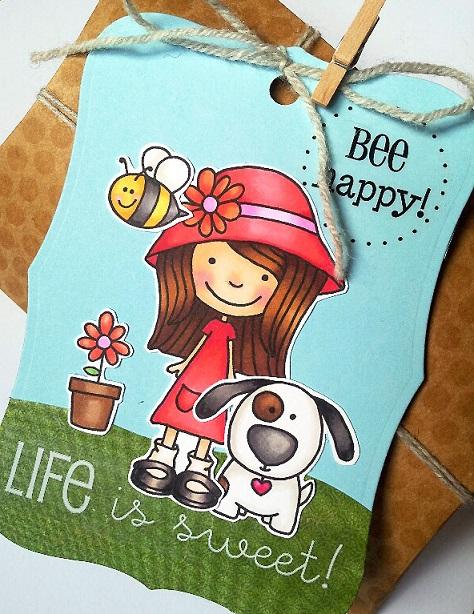 SRM Stickers Blog - Jane's Doodles Stamps - #stamps #LittleMissMia #happy #sweet  #stickers