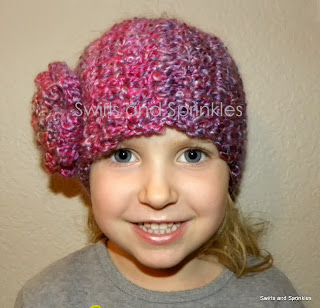 Swirls and Sprinkles: Chunky crochet headwrap pattern.