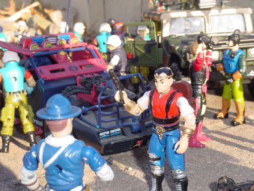 2001 Funskool Red Dog, Super Cop, Law, Dreadnok Thunder Machine, 1992 Mutt