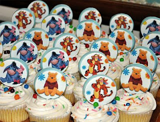 Cupcakes de Winnie Pooh para Fiestas Infantiles