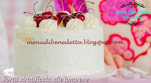 Torta stratificata alle amarene ricetta Knam da Bake Off Italia 3