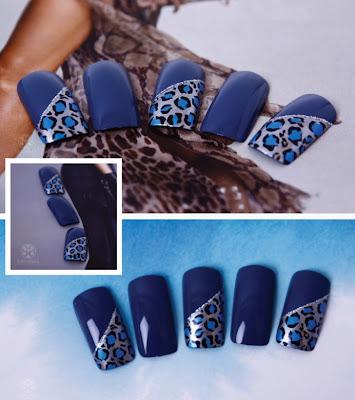 Blue Leopard Nail, Leopard Nail, Leopard Nail Design