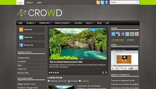 Crowd - Free Blogger Template