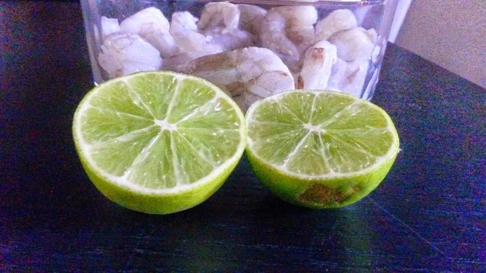 Delightful Shrimp and Limes for Prep