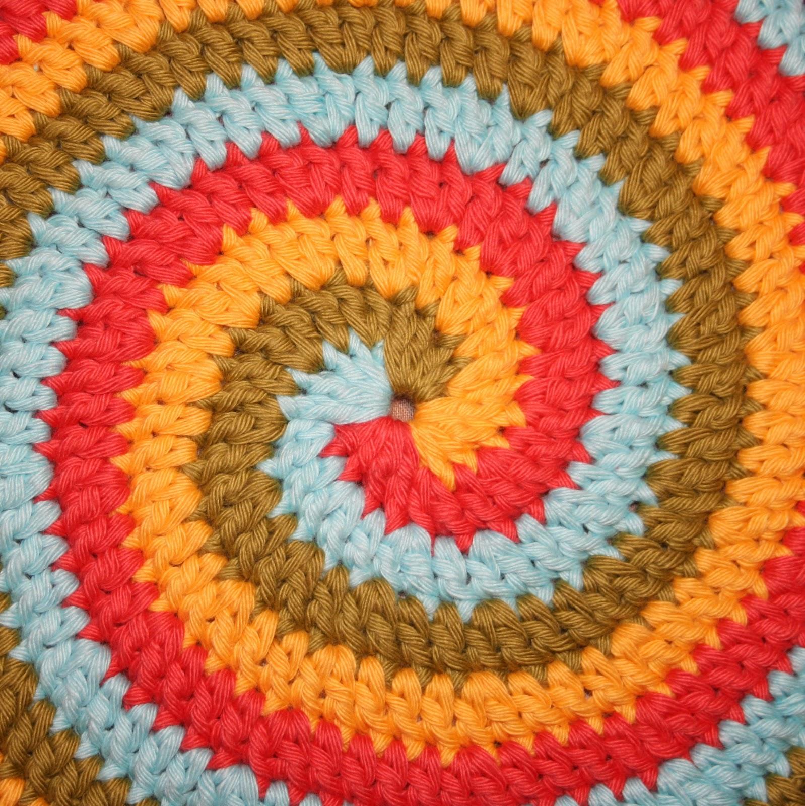 Вязание крючком коврики из пряжи для стульев
